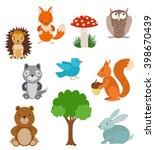 set of cute cartoon animals | Shutterstock . vector #398670439