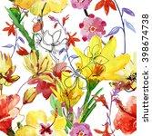 Stylized Flowers Watercolor...