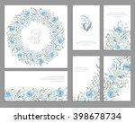 set of templates for... | Shutterstock .eps vector #398678734