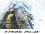 engineering man working on... | Shutterstock . vector #398681554