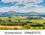 Hill view farm rural area - the seaside settlement of Karitane and Waikouaiti River near Dunedin Otago South Island New Zealand