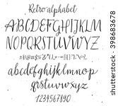 retro hand drawn alphabet.... | Shutterstock .eps vector #398683678