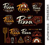 set of pizzeria labels  badges  ... | Shutterstock .eps vector #398688364