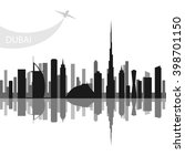dubai   the largest city in the ... | Shutterstock .eps vector #398701150