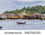 Small photo of BANDAR SERI BEGAWAN, BRUNEI - AUGUST 28: :Brunei's Famed water village Kampong Ayer in Bandar Seri Begawan, Brunei on August 28, 2012. Villages are fully self sufficient with their own water, shops.