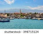chania  crete  greece   august... | Shutterstock . vector #398715124