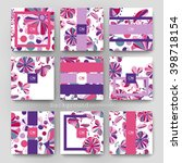 floral ornament vector brochure ... | Shutterstock .eps vector #398718154