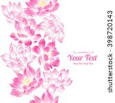 vector pink  lotuses flowers... | Shutterstock .eps vector #398720143