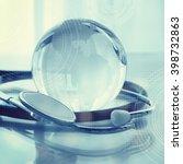 medical stethoscope. medicine... | Shutterstock . vector #398732863