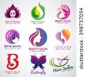 set of vector logos beauty...