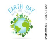 earth day.save the earth...   Shutterstock .eps vector #398737120