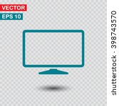 monitor  icon. one of set web...