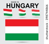 hungary   national flag and... | Shutterstock .eps vector #398744866