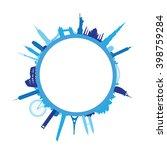 blue world landscape cityscape | Shutterstock .eps vector #398759284