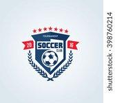 soccer and football club vector ... | Shutterstock .eps vector #398760214
