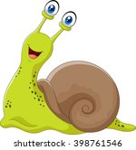 Stock vector cute snail isolated on white background 398761546
