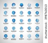 sphere icons set isolated on... | Shutterstock .eps vector #398763013