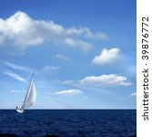 Sailing Boat On The Sea And...