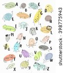 cute alphabet. letters and... | Shutterstock . vector #398775943