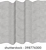 elegant stripe waves | Shutterstock .eps vector #398776300