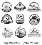 water sport black and white... | Shutterstock .eps vector #398779033