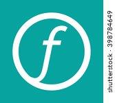 basic font letter f icon... | Shutterstock .eps vector #398784649