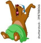bear waking up from hibernation ... | Shutterstock .eps vector #398788066