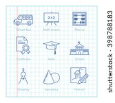 vector thin line icons set for...   Shutterstock .eps vector #398788183