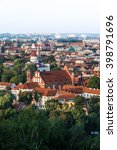 vilnius old town panorama with... | Shutterstock . vector #398791696