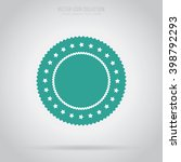 vector badge flat style vector... | Shutterstock .eps vector #398792293