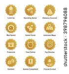 a set of glossy golden... | Shutterstock .eps vector #398796088