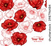 Vector Red Poppies Flowers...