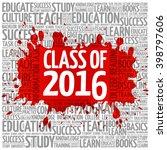 class of 2016 word cloud ... | Shutterstock .eps vector #398797606