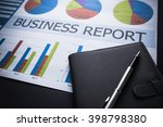 showing business and financial... | Shutterstock . vector #398798380