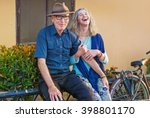 beautiful mature dutch couple... | Shutterstock . vector #398801170