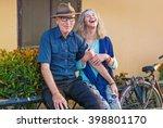 beautiful mature dutch couple... | Shutterstock . vector #398801170