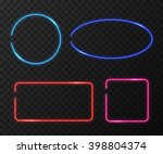 neon frames set on black... | Shutterstock .eps vector #398804374