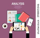 concepts for business planning... | Shutterstock .eps vector #398805346