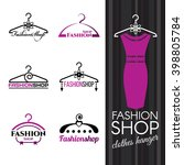 fashion shop logo   violet... | Shutterstock .eps vector #398805784