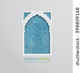 ramadan graphic background | Shutterstock .eps vector #398809168