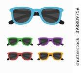 sun glasses set vector... | Shutterstock .eps vector #398809756