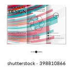 colorful tri fold brochure... | Shutterstock .eps vector #398810866