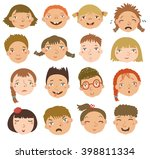 boys and girls in vector set | Shutterstock .eps vector #398811334