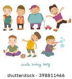 boys vector set | Shutterstock .eps vector #398811466