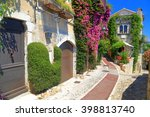 Sunny Street With Pink Flowers...