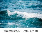 Beautiful Blue Ocean Wave And...