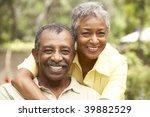 senior couple relaxing in garden | Shutterstock . vector #39882529
