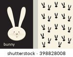 rabbit invitation card design.... | Shutterstock .eps vector #398828008