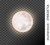 full moon on the dark... | Shutterstock .eps vector #398828716