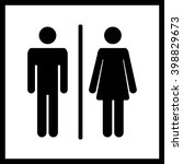 restroom or toilet icon.male... | Shutterstock .eps vector #398829673